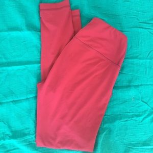 Full length high waist leggings thick magenta